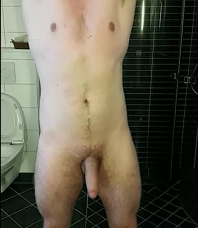 horny guy showing his body